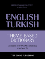Theme-Based Dictionary: British English-Turkish - 9000 words