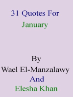 31 Quotes For January By Wael El-Manzalawy And Elesha Khan