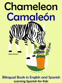 Bilingual Book in English and Spanish: Chameleon - Camaleón. Learn Spanish Collection