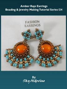 Amber Rays Earrings Beading & Jewelry Making Tutorial Series I24
