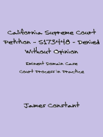 California Supreme Court Petition: S173448 – Denied Without Opinion