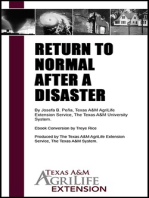 Return to Normal After a Disaster