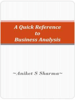 A Quick Reference to Business Analysis