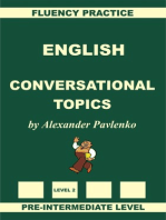 English, Conversational Topics, Pre-Intermediate Level, Fluency Practice