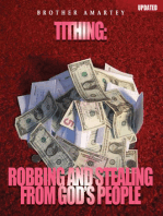Tithing- Robbing And Stealing From God's People