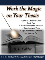 Work the Magic on Your Thesis
