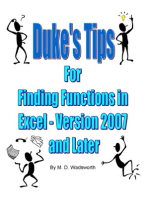 Duke's Tips For Finding Functions in Excel: Version 2007 and Later