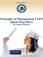 Principles of Management CLEP Quick Prep Sheet
