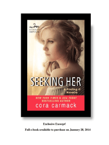 Exclusive Excerpt of Seeking Her by Cora Carmack