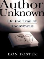 Author Unknown