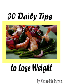 30 Daily Tips to Lose Weight