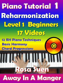 Rosa's Adult Piano Lessons Reharmonization Level 1: Beginners Away In A Manger with 17 Instructional Videos