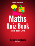 Maths Quiz: Adult Basic Level