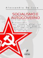 SOCIALISMO E AUTOGOVERNO Riflessioni per rendere effettivo il potere del popolo nell'ambito politico, economico e sociale