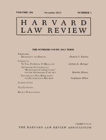 Harvard Law Review: Volume 126, Number 1 - November 2012