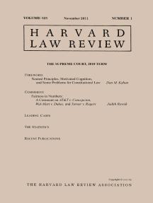 Harvard Law Review: Volume 125, Number 1 - November 2011