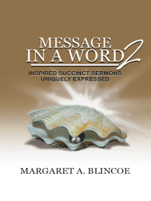 Message in a Word 2: Inspired Succinct Sermons Uniquely Expressed