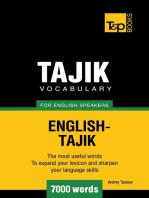 Tajik vocabulary for English speakers: 7000 words