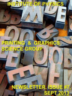 Issue 7 Printing and Graphics Science Group Newsletter