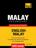 Malay vocabulary for English speakers