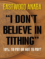 I Don't Believe In Tithing