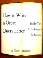 How to Write a Great Query Letter