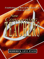 Now Concerning Teachers