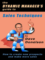 The Dynamic Manager's Guide To Sales Techniques