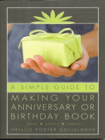 A Simple Guide to Making Your Anniversary or Birthday Book