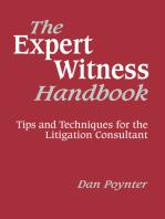 The Expert Witness Handbook