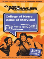College of Notre Dame of Maryland 2012
