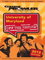 University of Maryland 2012