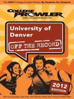 University of Denver 2012