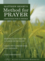 Matthew Henry's Method for Prayer NASB Corporate Version)