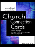 Church Connection Cards, Special Edition, connect with visitors, grow your church, pastor your people, little cards, big results