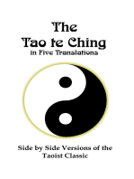 The Tao te Ching in Five Translations