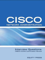 Cisco Network Administration Interview Questions: CISCO CCNA Certification Review