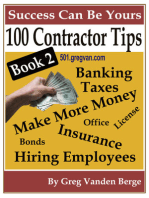 100 Tips For Contractors: Book 2