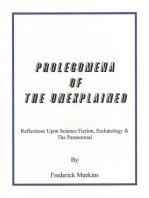 Prolegomena Of The Unexplained