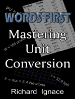 WORDS FIRST: Mastering Unit Conversion