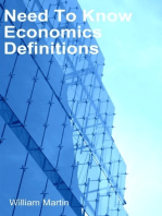Need To Know Economics defintions