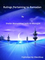 Rulings Pertaining to Ramadan