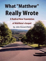 """What """"Matthew"""" Really Wrote"""