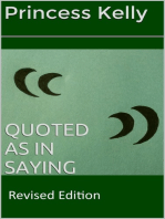 Quoted As In Saying