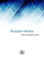 Russian Verbs (100 Conjugated Verbs)