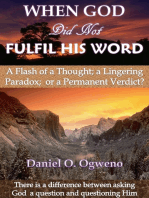 When God Did Not Fulfil His Word