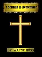 A Sermon to Remember