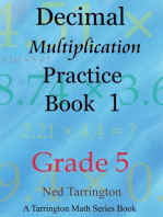 Decimal Multiplication Practice Book 1, Grade 5