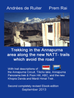 Trekking In The Annapurna Area Along The New NATT-Trails Which Avoid The Road