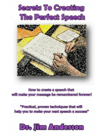 Secrets To Creating The Perfect Speech